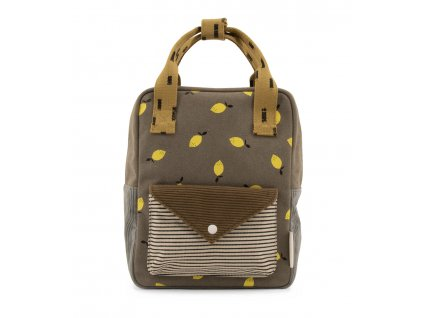 1801816 Sticky Lemon product backpack small pigeon blue + woody green