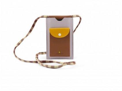 Kapsička na iPhone XL -  Sticky Lemon gingham chocolate sundae
