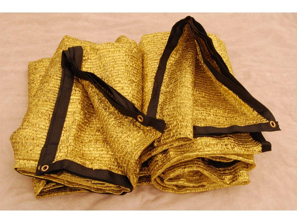Zlatá stínící plachta XL 5x4