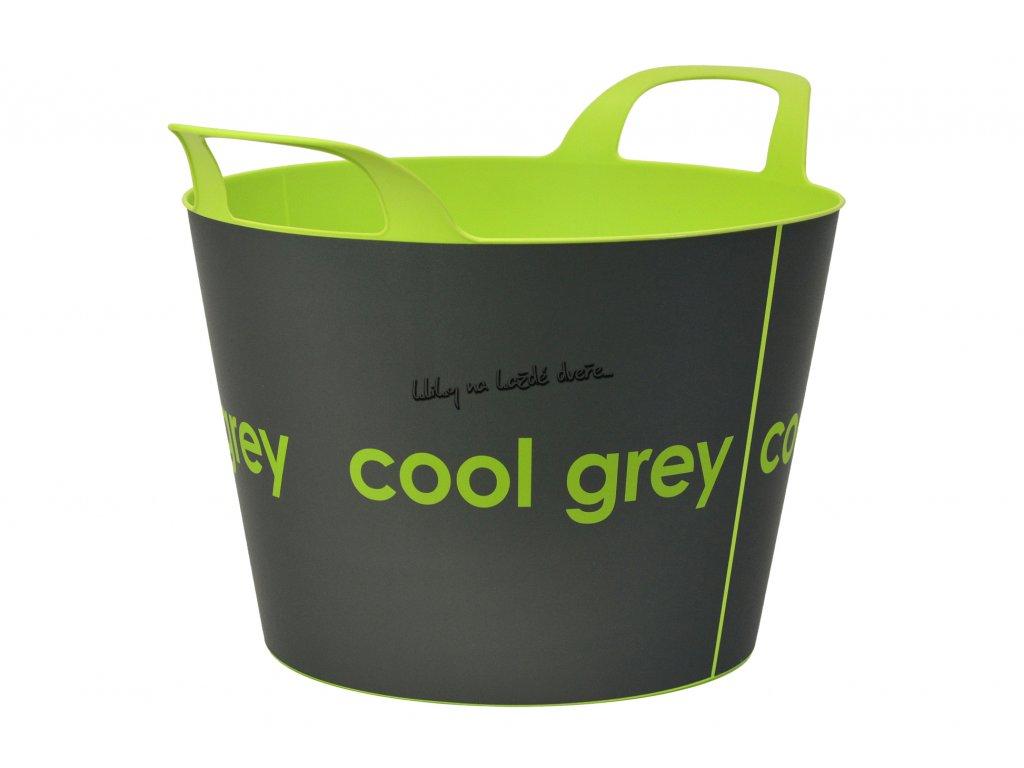 koš na dřevo - Cool Grey