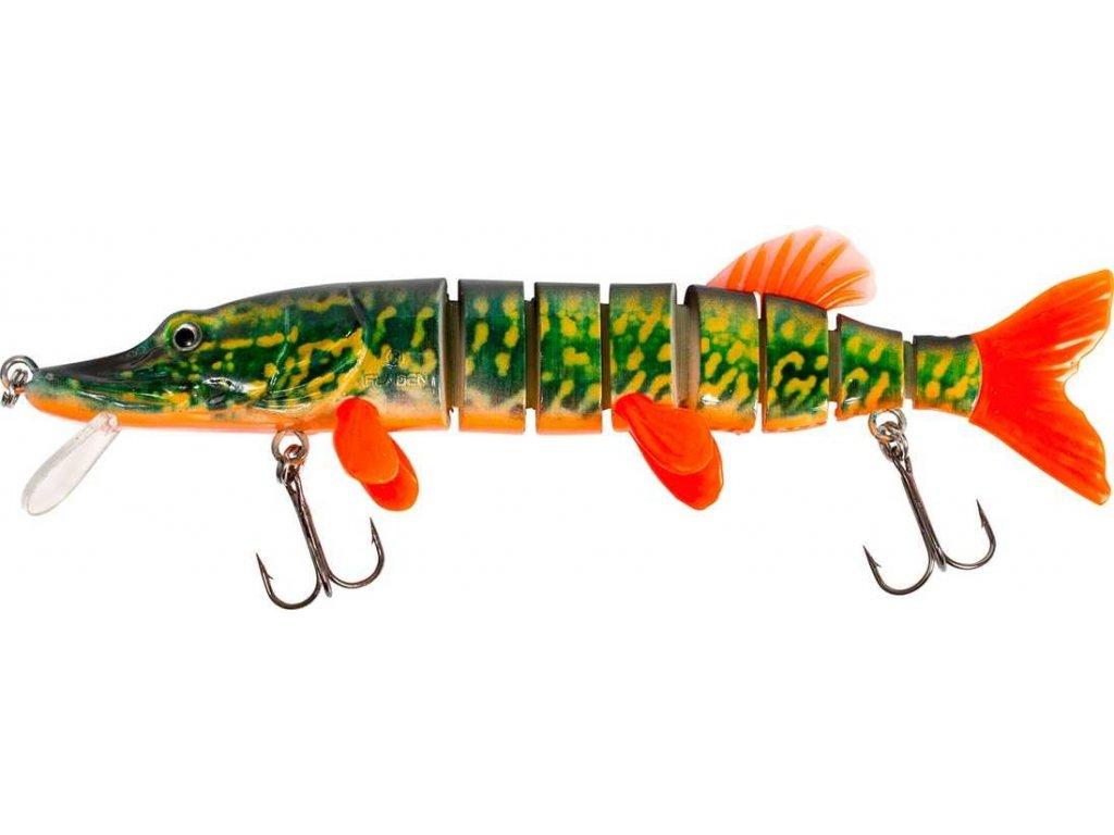 Fladen wobler Living Pike Floating 60g/20cm (Varianta Fire Pike)