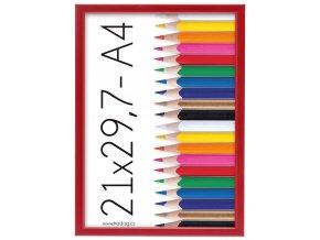 Rámik Polaris červený 21x29,7 - A4