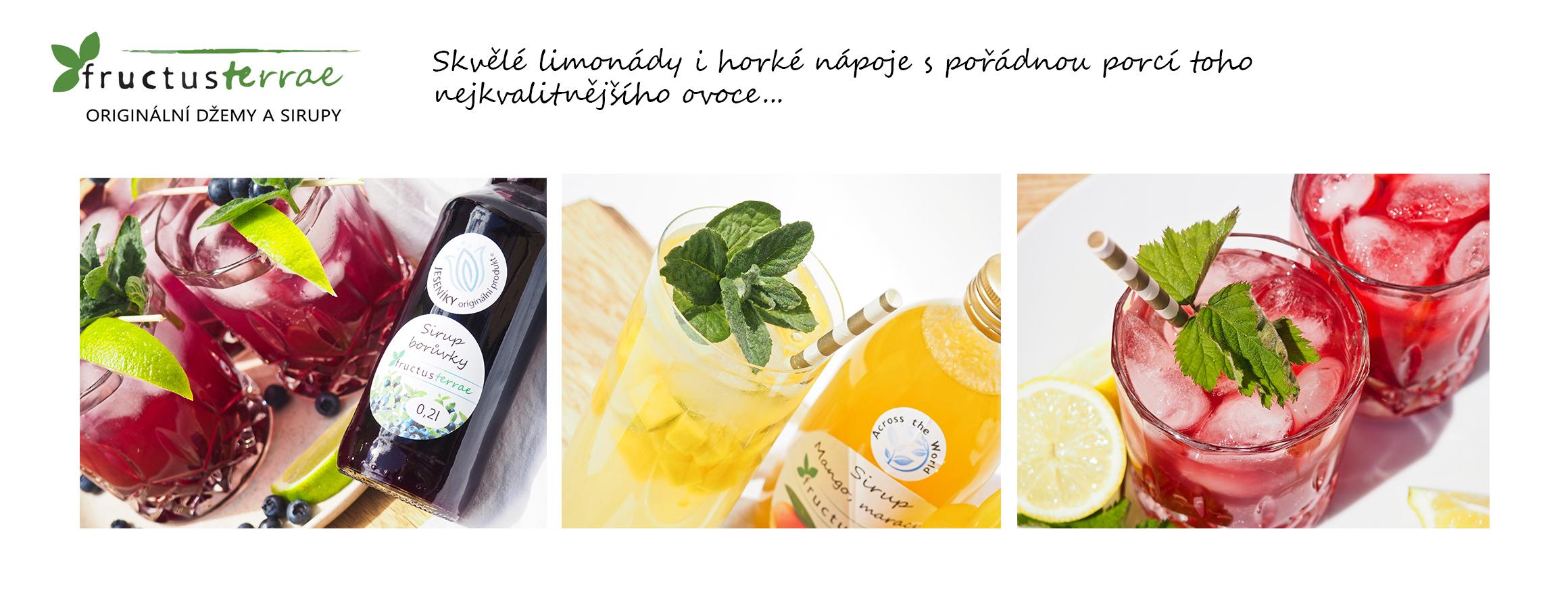 Skvělé limonády i horké nápoje s pořádnou porcí toho nejkvalitnějšího ovoce...