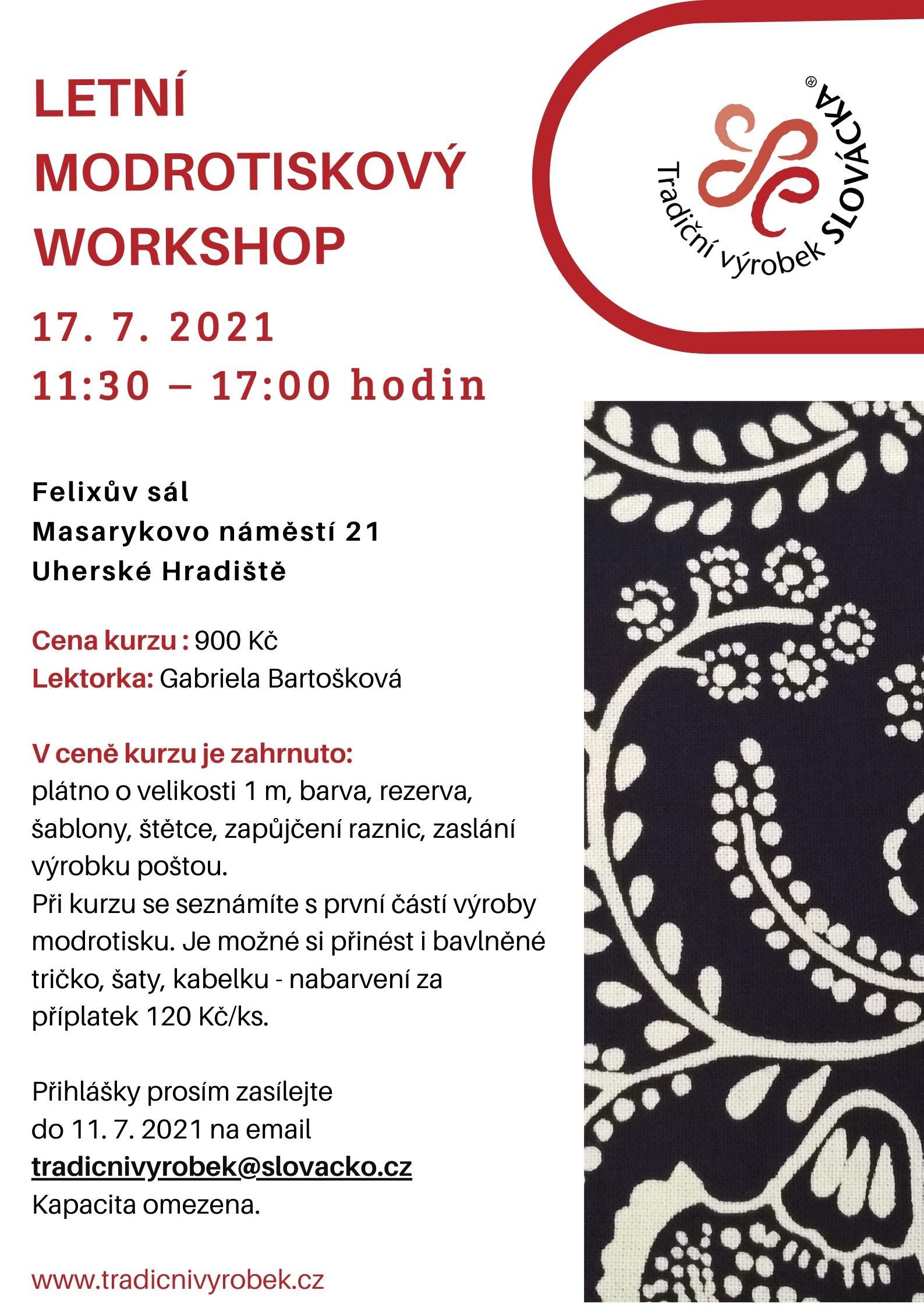 Modrotiskový workshop