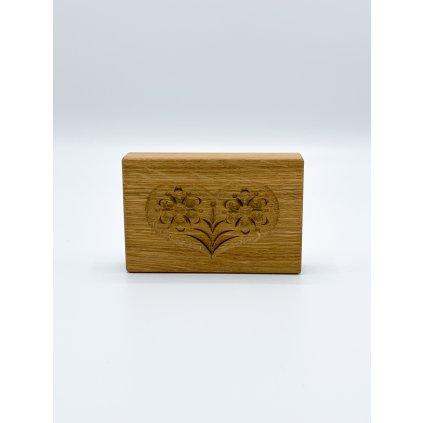 Dřevěná forma SRDÍČKO (dub) 726,