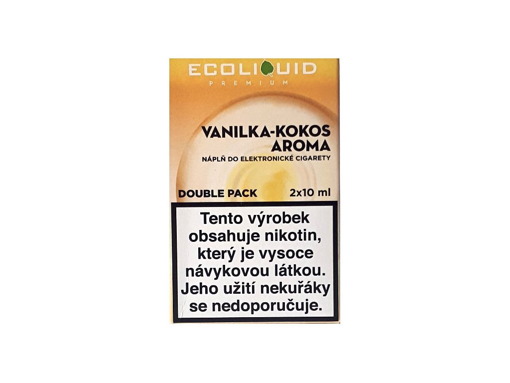 Liquid Ecoliquid Premium 2Pack Vanilla Coconut 2x10ml