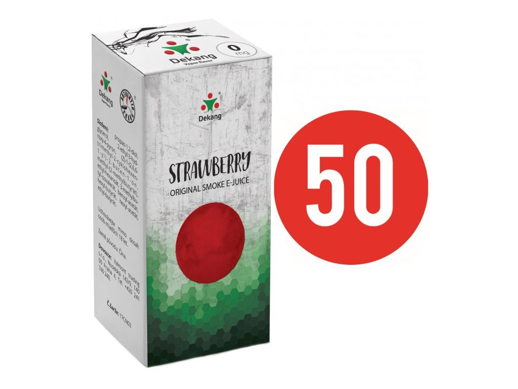 Liquid Dekang Fifty Strawberry 10ml (Jahoda)