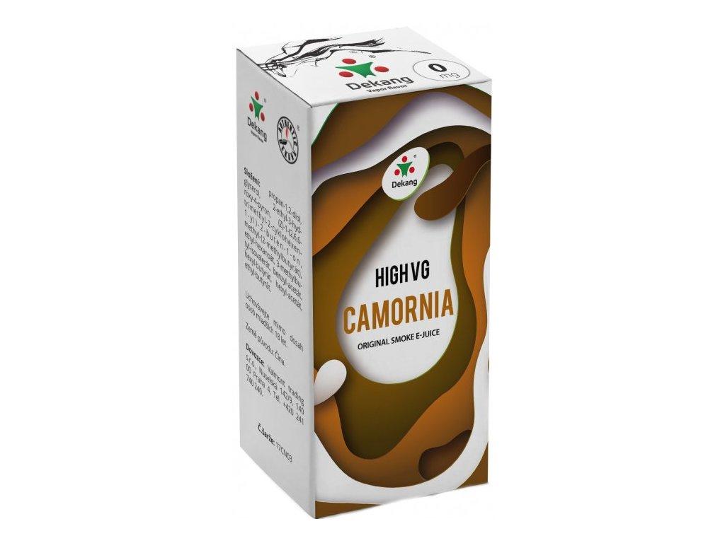 Liquid Dekang High VG Camornia 10ml (Tabák s ořechy)