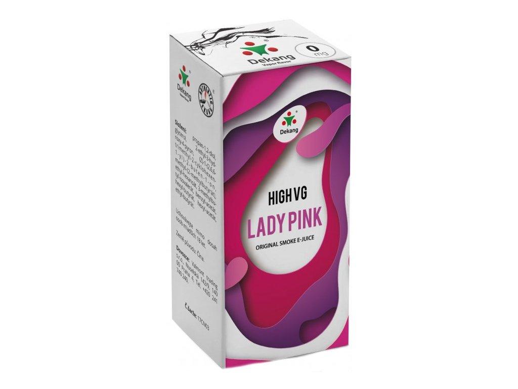 Liquid Dekang High VG Lady Pink 10ml (Borůvka s broskví)