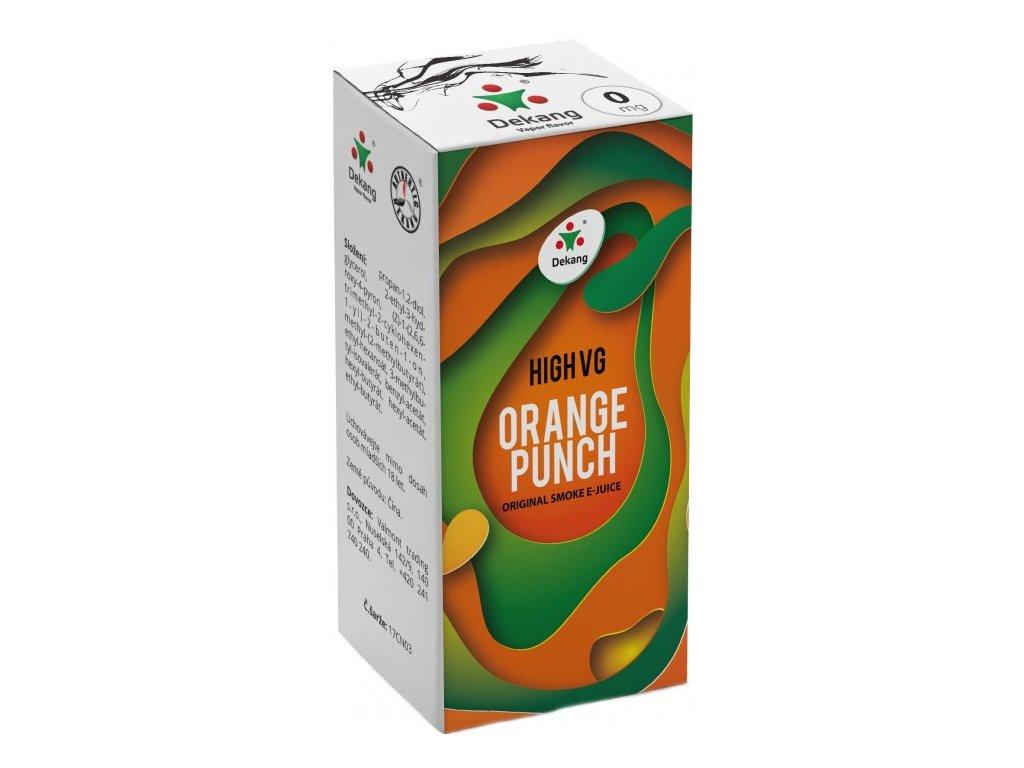 Liquid Dekang High VG Orange Punch 10ml (Sladký pomeranč)