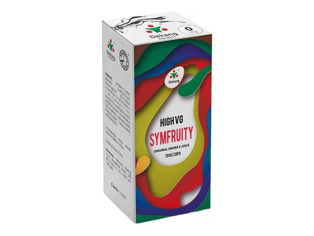 Liquid Dekang High VG Symfruity 10ml (Ovocný mix)