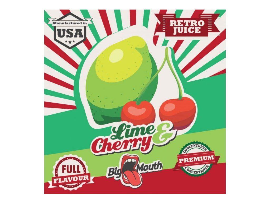Big Mouth RETRO - Lime and Cherry 10ml