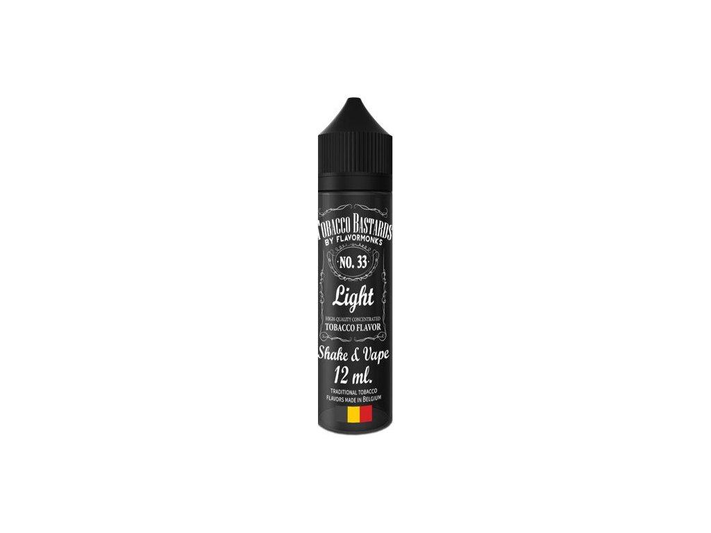 Příchuť Flavormonks Tobacco Bastards Shake and Vape 12ml No.33 Light Tobacco