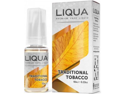 liquid liqua cz elements traditional tobacco 10ml0mg tradicni tabak.png