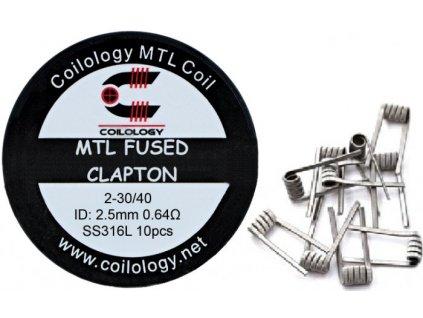 19151 coilology mtl fused clapton predmotane spiralky ss316 0 64ohm 10ks