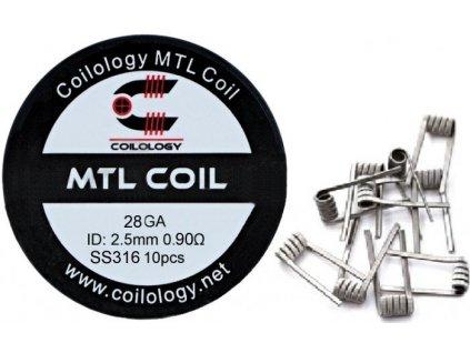 4173 coilology mtl predmotane spiralky ss316 0 9ohm 28ga 10ks