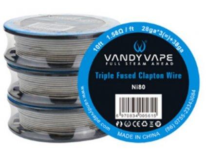 25908 vandy vape triple fused clapton ni80 odporovy drat 28ga 3 38ga 3m