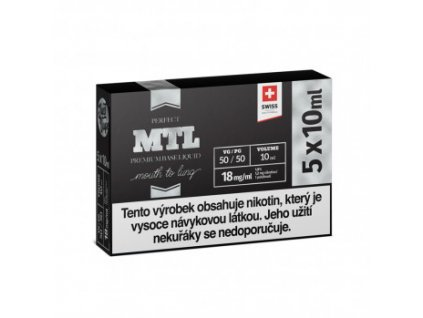 JustVape Booster báze MTL PG50/VG50 18mg 5x10ml