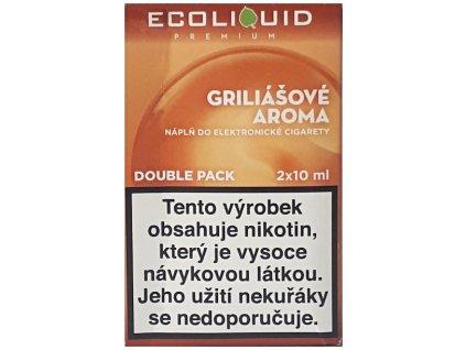 Liquid Ecoliquid Premium 2Pack Griliášové aroma 2x10ml