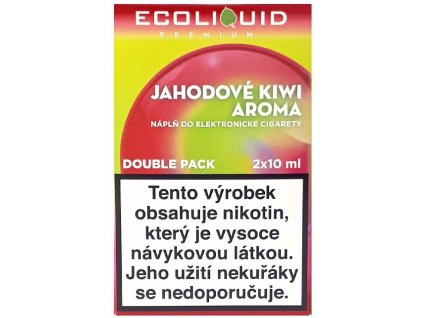 Liquid Ecoliquid Premium 2Pack Strawberry Kiwi 2x10ml