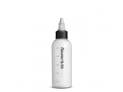 Prázdná lahvička Flavourit s twist uzávěrem a ryskou - 50ml