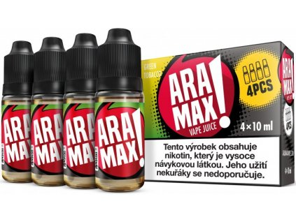 liquid aramax 4pack green tobacco 4x10ml12mg.png