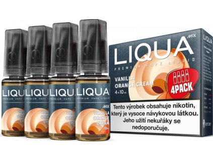 Liquid LIQUA CZ MIX 4Pack Vanilla Orange Cream 10ml