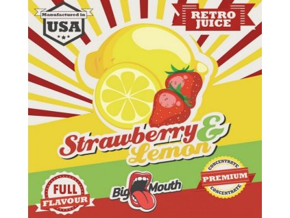 Big Mouth RETRO - Strawberry and Lemon 10ml