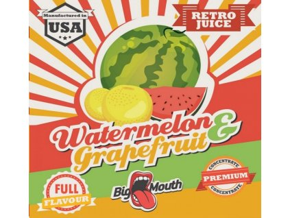 Big Mouth RETRO - Watermelon and grapefruit 10ml