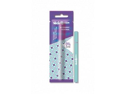 Nick One Slim elektronická cigareta Blueberry Menthol 0mg (Borůvka s mentolem)