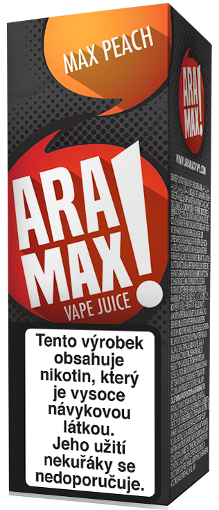 Aramax Max Peach 10ml Síla nikotinu: 3mg