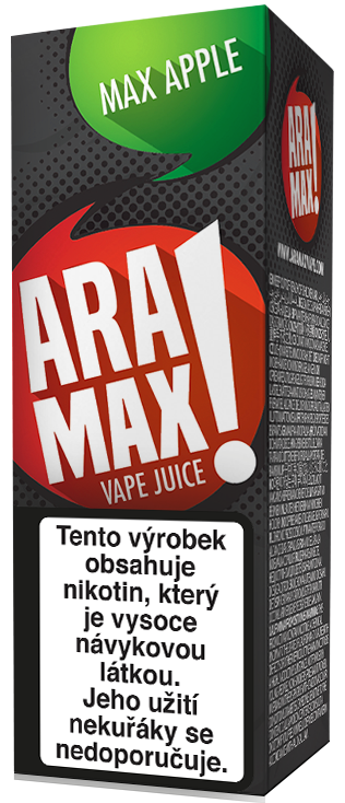 Aramax Max Apple 10ml Síla nikotinu: 3mg