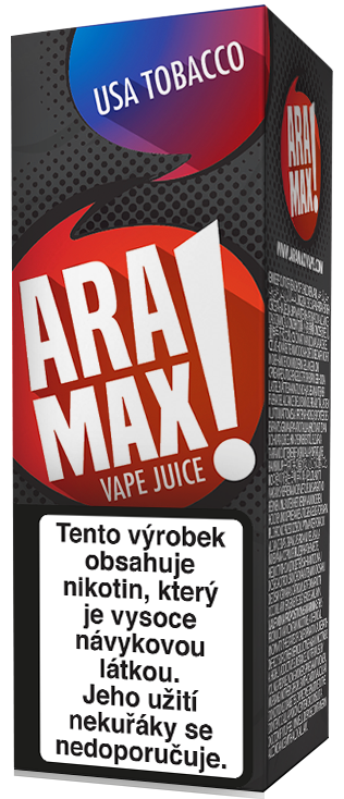 Aramax Max USA Tobacco 10ml Síla nikotinu: 0mg
