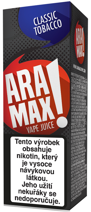 Aramax Max Classic Tobacco 10ml Síla nikotinu: 0mg