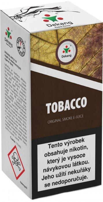 Dekang Tobacco 10ml (tabák) Síla nikotinu: 18mg