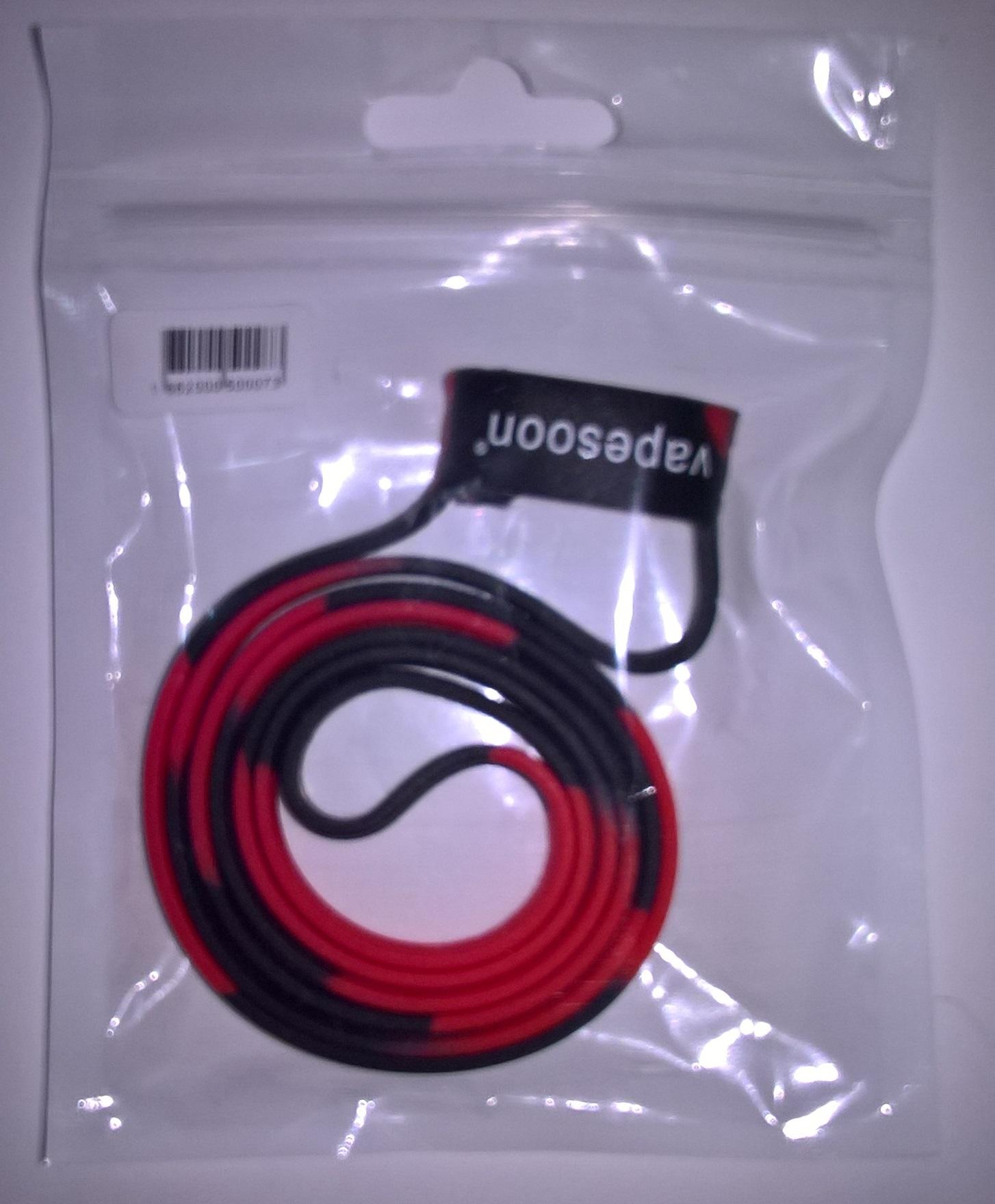Vapesoon univerzální silikonová šňůrka na e-cigaretu 19-25mm 1ks Barva: Černá/Červená