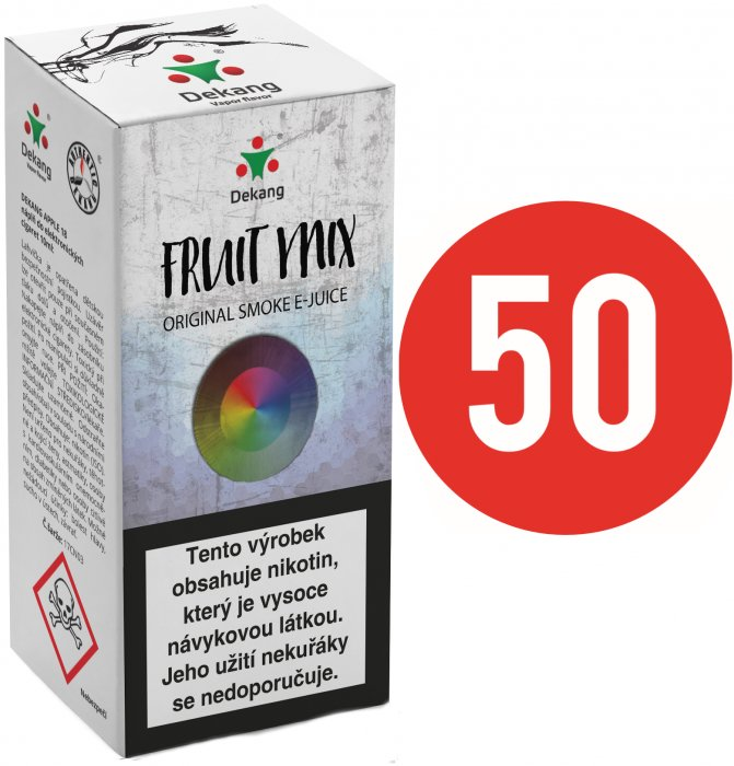 Liquid Dekang Fifty Fruit Mix 10ml (Ovocný mix) Síla nikotinu: 18mg