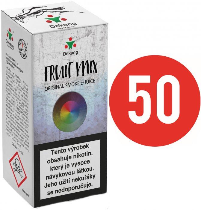 Liquid Dekang Fifty Fruit Mix 10ml (Ovocný mix) Síla nikotinu: 3mg