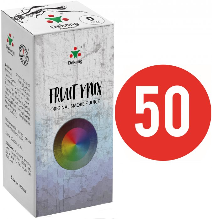 Liquid Dekang Fifty Fruit Mix 10ml (Ovocný mix) Síla nikotinu: 0mg