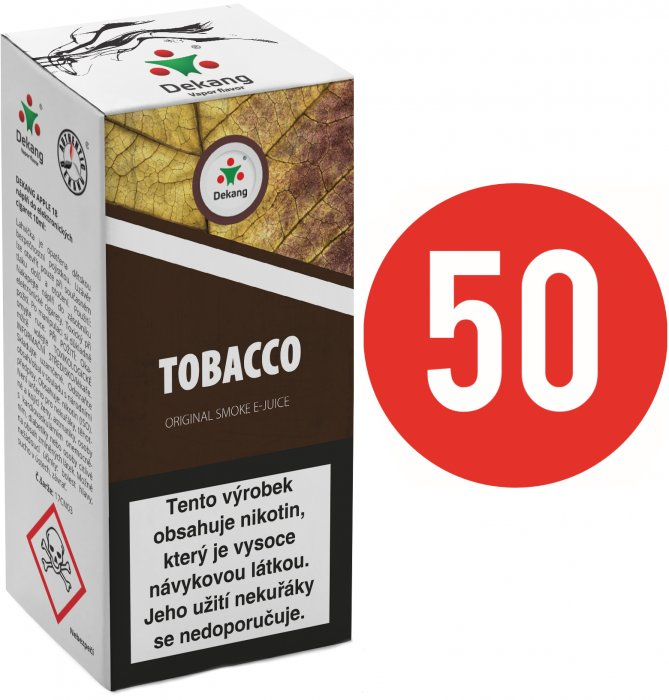 Liquid Dekang Fifty Tobacco 10ml (Tabák) Síla nikotinu: 11mg
