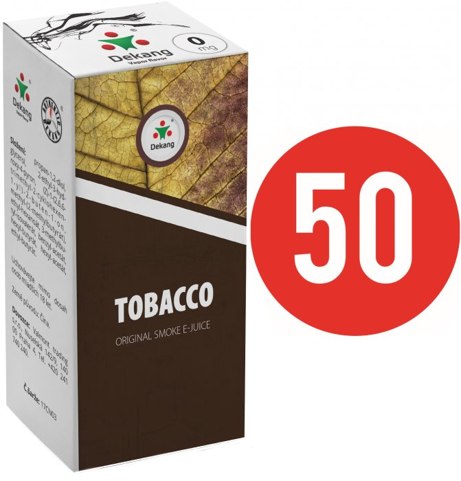 Liquid Dekang Fifty Tobacco 10ml (Tabák) Síla nikotinu: 0mg