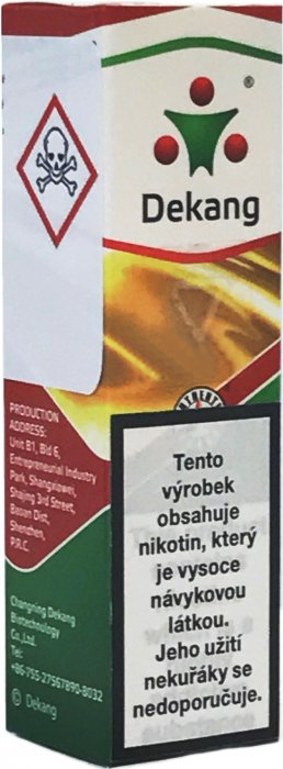 Liquid Dekang SILVER Virginia 10ml (virginia tabák) Síla nikotinu: 18mg