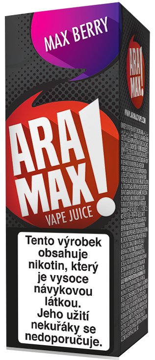 Aramax Max Berry 10ml Síla nikotinu: 0mg