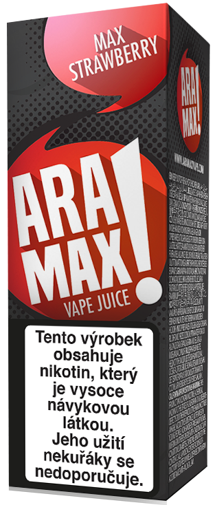 Aramax Max Strawberry 10ml Síla nikotinu: 0mg