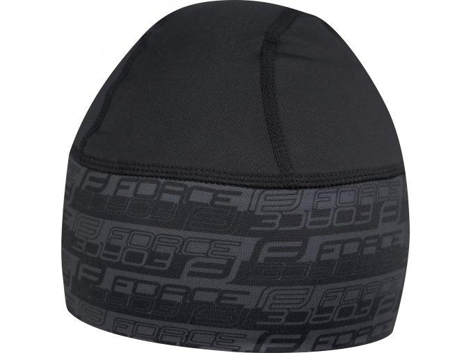 čepice pod přilbu FORCE zateplená lycra, černá