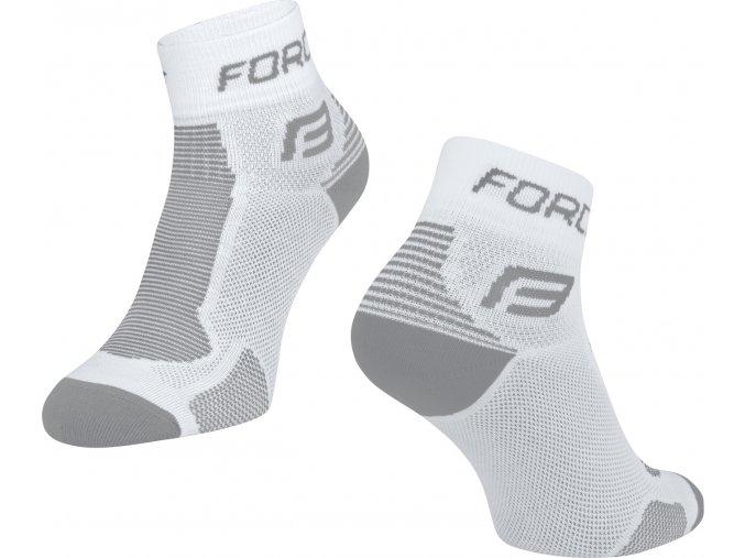 ponožky FORCE 1, bílo-šedé