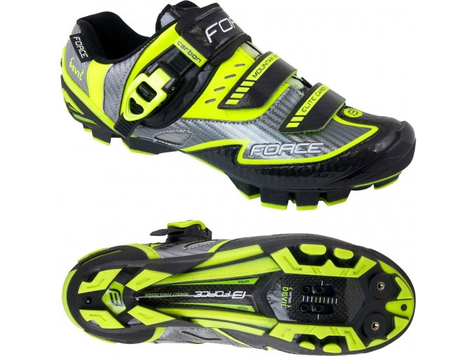 tretry FORCE MTB CARBON DEVIL, fluo