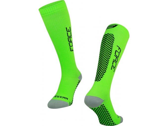 ponožky FORCE TESSERA KOMPRESNÍ,zelené