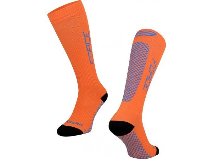 ponožky FORCE TESSERA KOMPRESNÍ, oranžová