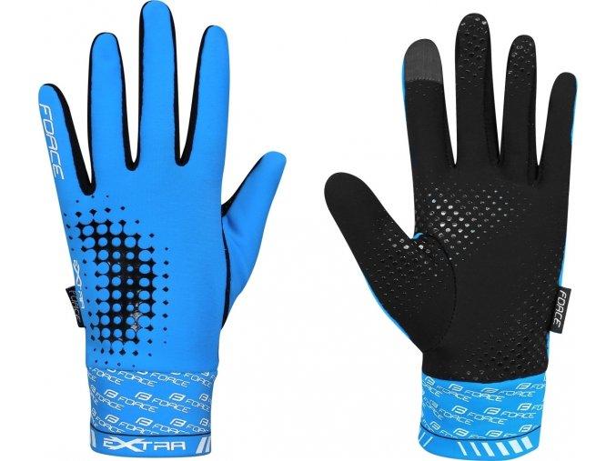rukavice FORCE EXTRA jaro-podzim, modré
